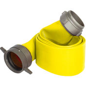 """Armored Textiles N50H5RY50S JAFRIB Standard Nitrile Fire Hose, 5"""" X 50 Ft, 225 PSI, Yellow"""