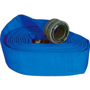 """Armored Textiles N52H25HDB50N JAFLINE HD Double Jacket Fire Hose, 2-1/2"""" X 50 Ft, 400 PSI, Blue"""