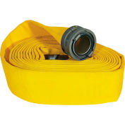 """Armored Textiles N51H4LNY100S JAFLINE Double Jacket Fire Hose, 4"""" X 100 Ft, 300 PSI, Yellow"""