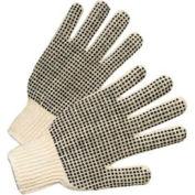 PVC Dot String Knit Gloves, Anchor 708SKBS, 12 Pairs/Dozen