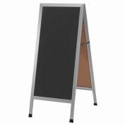 """Aarco Aluminum A-Frame Sidewalk White Marker Board - 18""""W x 42""""H"""