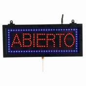 """Aarco Small Spanish LED Sign Abierto (Open) - 16-1/8""""W x 6-3/4""""H"""