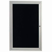 "Aarco 1 Door Letter Board Cabinet, Illuminated - 24""W x 36""H"