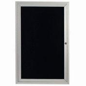 "Aarco 1 Door Letter Board Cabinet, Illuminated - 24""W x 36""H"