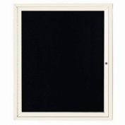 "Aarco 1 Door Letter Board Cabinet Ivory Powder Coat - 30""W x 36""H"