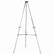 "Aarco Aluminum Telescopic Display Easel, 35-66""H"