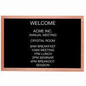 """Aarco Red Oak Framed Letter Board Message Center - 36""""W x 24""""H"""