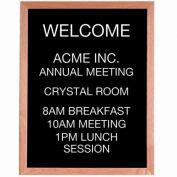 """Aarco Red Oak Framed Letter Board Message Center - 24""""W x 30""""H"""