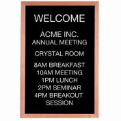 """Aarco Red Oak Framed Letter Board Message Center - 24""""W x 36""""H"""