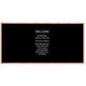 """Aarco Red Oak Framed Letter Board Message Center - 96""""W x 48""""H"""
