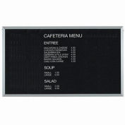 "Aarco Aluminum Framed Letter Board Message Center - 60""W x 36""H"
