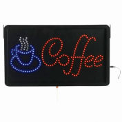 "Aarco Large LED Sign Coffee - 22""W x 13""H"