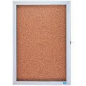 "Aarco 1 Door Enclosed Bulletin Board Cabinet - 36""W x 24""H"