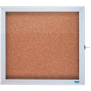"Aarco 1 Door Enclosed Bulletin Board Cabinet - 30""W x 36""H"
