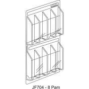 "Clear-Vu Pamphlet Display 8 Pamphlet Pockets - 21""W x 21""H"