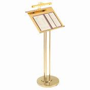 Maitre D Hostess Station w/ Subtle Lighting Brass