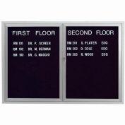 "Aarco 2 Door Enclosed Letter Board Cabinet - 48""W x 36""H"