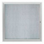 "Aarco 1 Door Aluminum Framed Enclosed Bulletin Board - 36""W x 36""H"