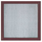 "Aarco 1 Door Alum Framed Illum Enclosed Bulletin Board Bronzed Anod. - 36""W x 36""H"
