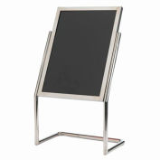 "Aarco Dual Capability Neon Marker Board And Menu/Poster Holder Chrome - 22""W x 30""H"