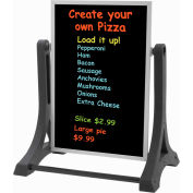 "Aarco The Rocker™ Double Sided Sidewalk Sign W/Black Neon Write-On Surface, 24""W x 36""H"