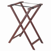 Aarco Products  In Dark Wood Folding Tray Stand