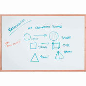 "Aarco Display Style White Marker Board - 48""W x 36""H"
