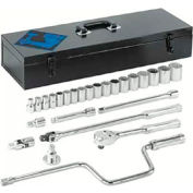 "26 Piece 1/2"" Dr. Socket Sets, ARMSTRONG TOOLS 15-520"