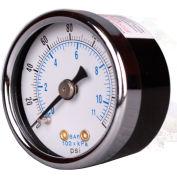 "Arrow Pressure Gauge For Mini Regulators & Mini Integral 1681, Steel Case, 1/8"" NPT, 160 PSI"