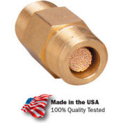 "Arrow In-Line Nipple Filter ASP3102-40, Sintered Bronze, 1/4"" NPT, 300 PSI - Pkg Qty 10"