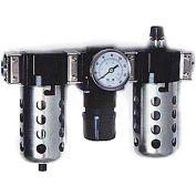 """Arrow 1/2"""" Modular FRL W/End Ports C33354W, Gauge, Metal Bowl W/Sight, Manual & Arrow Fog Lubricator"""