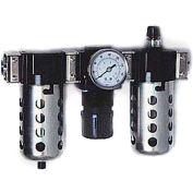 """Arrow 1/4"""" Modular FRL W/End Ports C33452, Gauge, Poly Bowl, Manual & Ultra Fog Lubricator"""