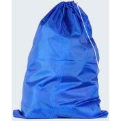"American Supply 30"" Drawcord Laundry Bag, 210 Denier Nylon, Blue, Straight Bottom"