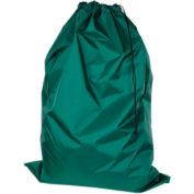 "American Supply 30"" Drawcord Laundry Bag, 210 Denier Nylon, Green, Straight Bottom"