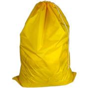 "American Supply 30"" Drawcord Laundry Bag, 210 Denier Nylon, Yellow, Straight Bottom"