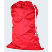 "American Supply 40"" Drawcord Laundry Bag, 210 Denier Nylon, Red, Straight Bottom"