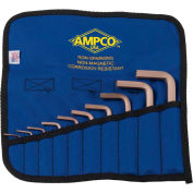 AMPCO® M-42M 10 Piece Non-Sparking Hex Key Kit, Metric