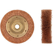 """AMPCO® WB-44A Non-Sparking Wheel Crimped Wire Brush, 6""""Dia"""