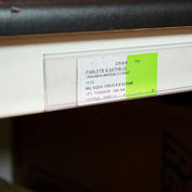 "Data Strip with Adhesive Ticket Holder 48"" x 1.25""H Clear"