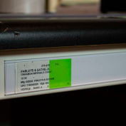 "Data Strip with Adhesive Ticket Holder 48"" x 1.25""H Cream"