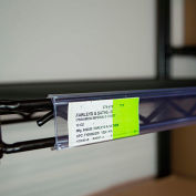 "Data Strip for Nexel Style Shelf Ticket Holder 45"" x 1.25""H Clear"