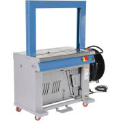 """High Speed Auto Feed Polypropylene Strapping Machine, 49""""L x 58""""H x 23""""D, Silver"""