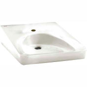 American Standard 9140.047.020 Wheelchair User Bathroom Sink, Single Hole Faucet