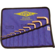 AMPCO® M-42 Non-Sparking Hex Key 10 Piece Kit SAE