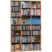 Atlantic® Oskar Media Cabinet 756 CD or 360 DVD or Blu-Ray or Games in Maple