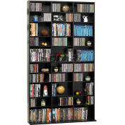 Atlantic® Oskar Media Cabinet 1080 CD or 504 DVD or Blu-Ray or Games in Espresso
