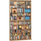Atlantic® Oskar Media Cabinet 1080 CD or 504 DVD or Blu-Ray or Games in Maple
