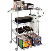 Atlantic® Gamekeeper Wire 4 Tier Tower For Gaming Gear in Silver