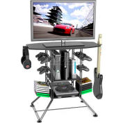 Atlantic® Centipede Game Storage and TV Stand with Black Carbon Fiber Top