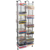 Atlantic® Nestable 100 CD Tower In Gunmetal